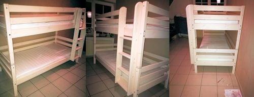 Fertig aufgebautes Flexa Classic Etagenbett nach 2 Stunden in der Nacht