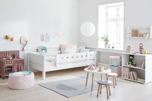 Kinderzimmer Mädchen rosa Little Princess Einzelbett Schränke Flexa