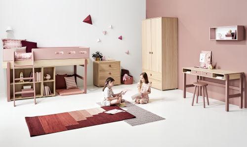 Ein funktionales Flexa Popsicle Kinderzimmer für Mädchen
