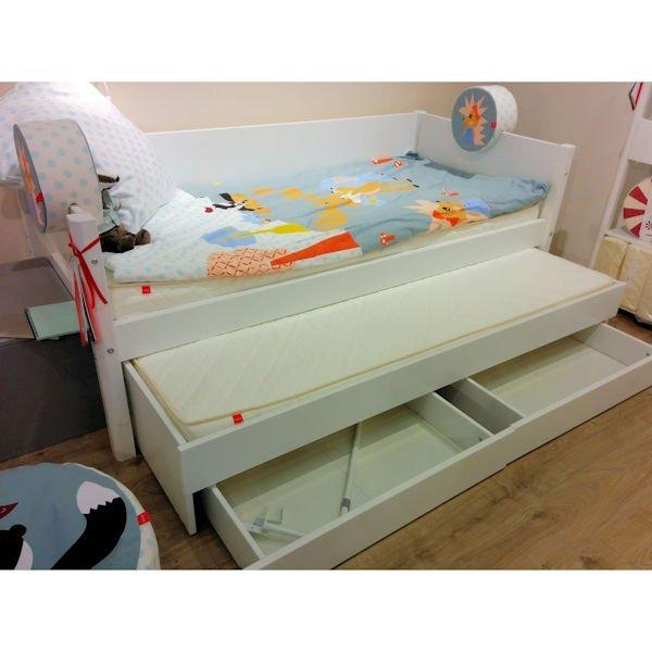 Flexa White Einzelbett mit Gästebett und Schubladen