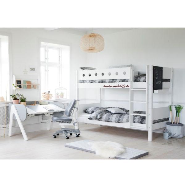 Flexa White Etagenbett mit gerade Leiter