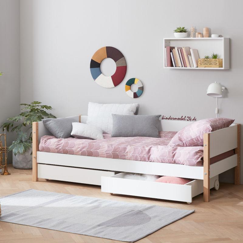 Flexa Nor Einzelbett mit Schubladen